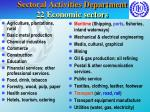 sectoral activities department 22 economic sectors
