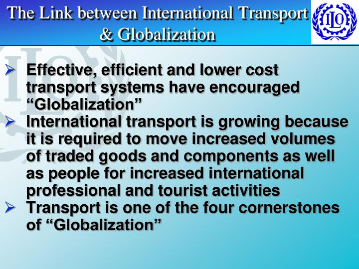 The Link between International Transport & Globalization