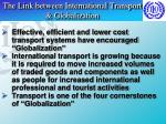 the link between international transport globalization
