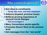why a sectoral approach