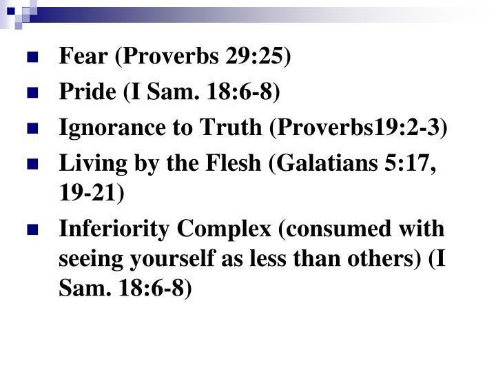 Fear (Proverbs 29:25)