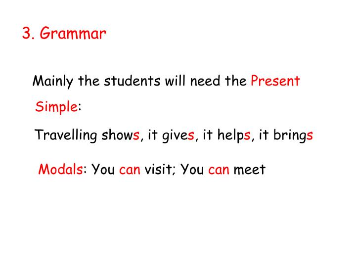 3. Grammar