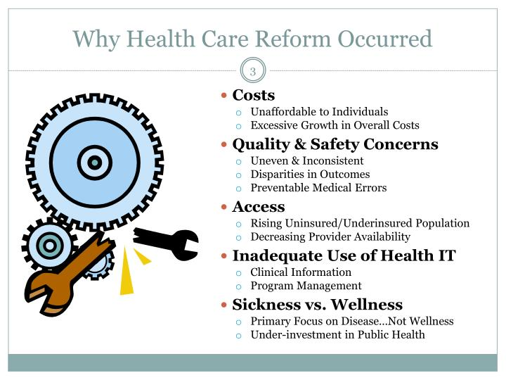 Why Health Care Reform Occurred