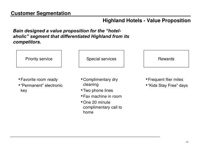 Highland Hotels - Value Proposition