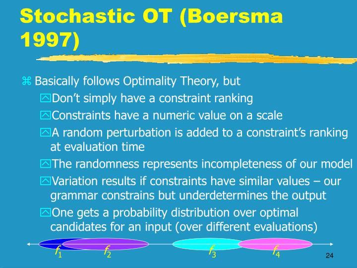 Stochastic OT (Boersma 1997)