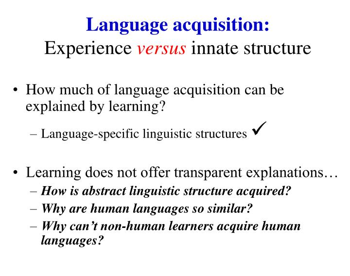 Language acquisition: