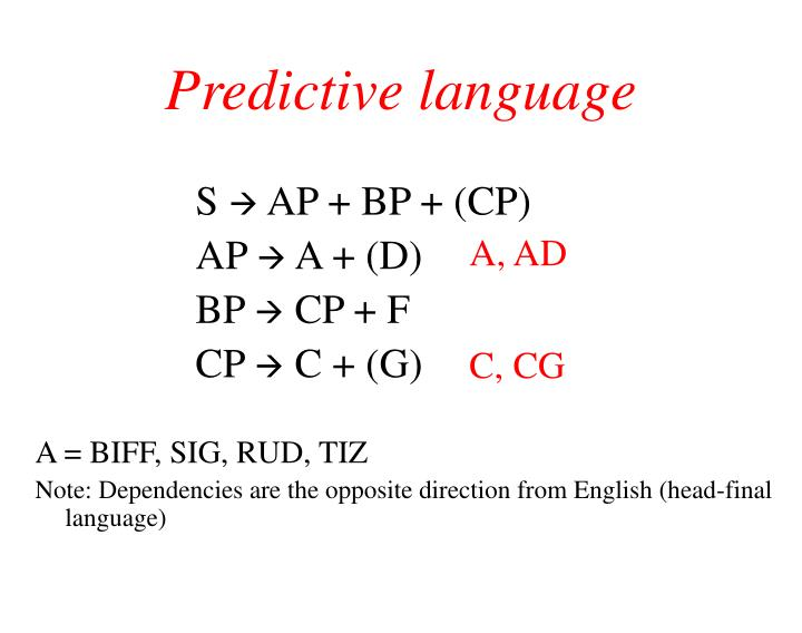 Predictive language