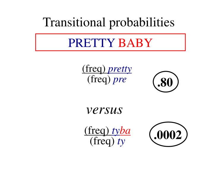 Transitional probabilities