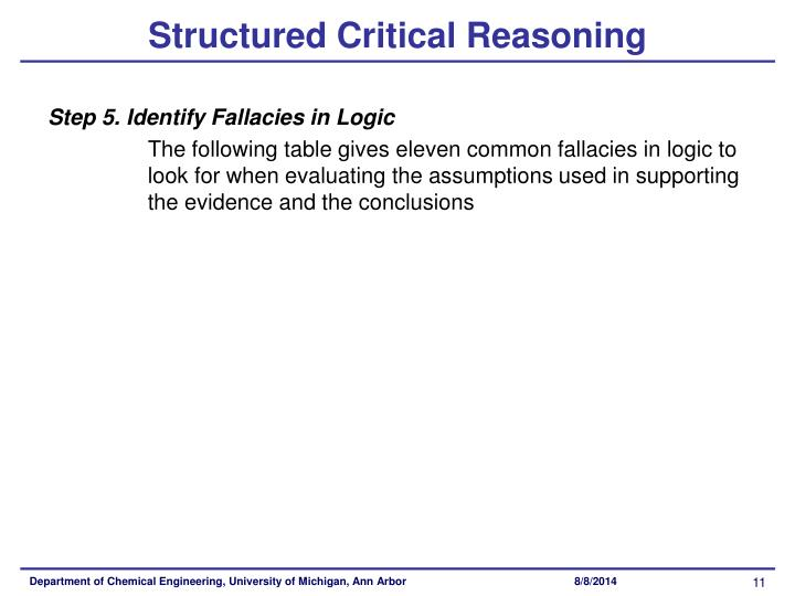 Structured Critical Reasoning