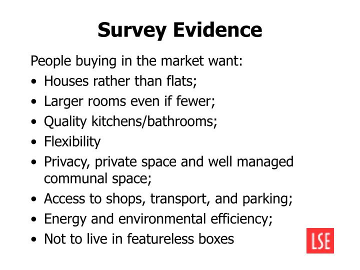 Survey Evidence