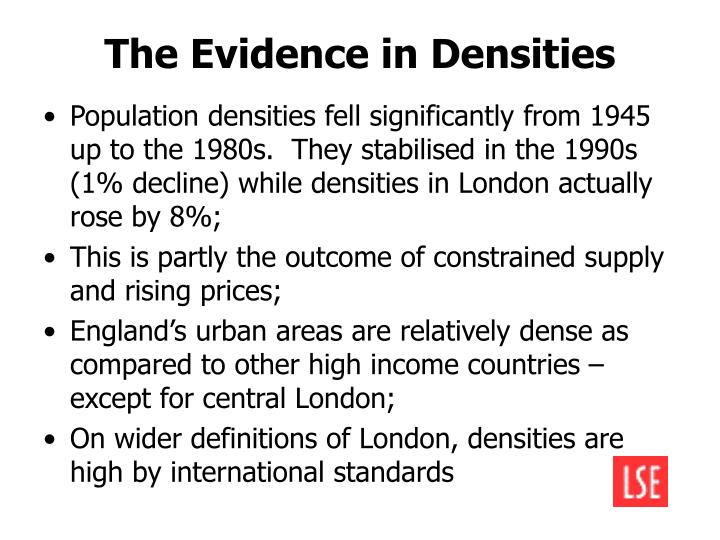 The Evidence in Densities