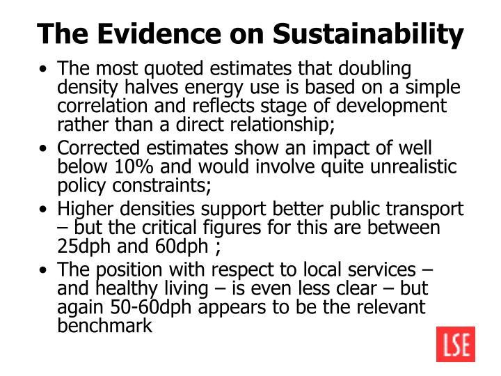 The Evidence on Sustainability