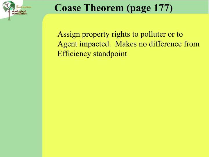 Coase Theorem (page 177)