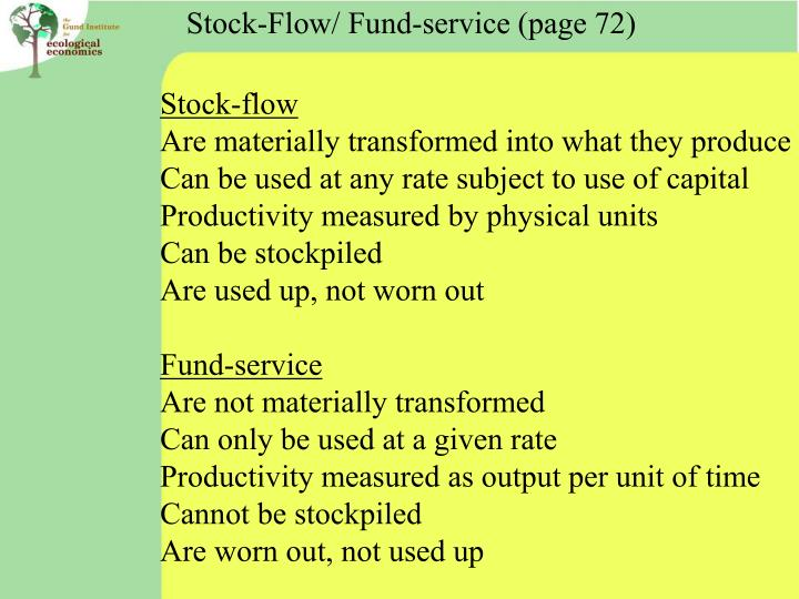 Stock-Flow/ Fund-service (page 72)