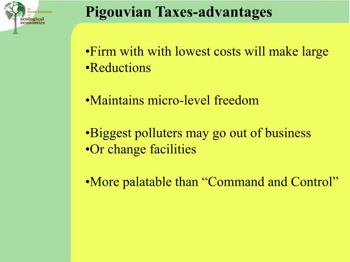 Pigouvian Taxes-advantages