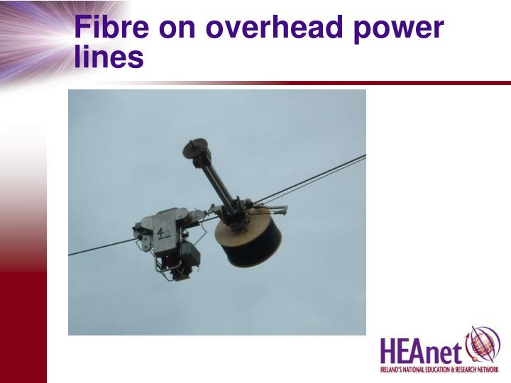Fibre on overhead power lines