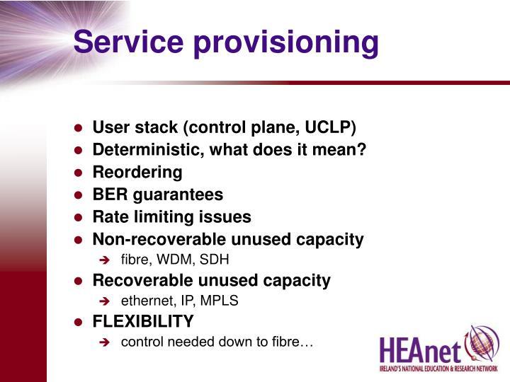 Service provisioning