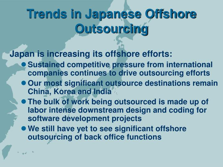 Trends in japanese offshore outsourcing