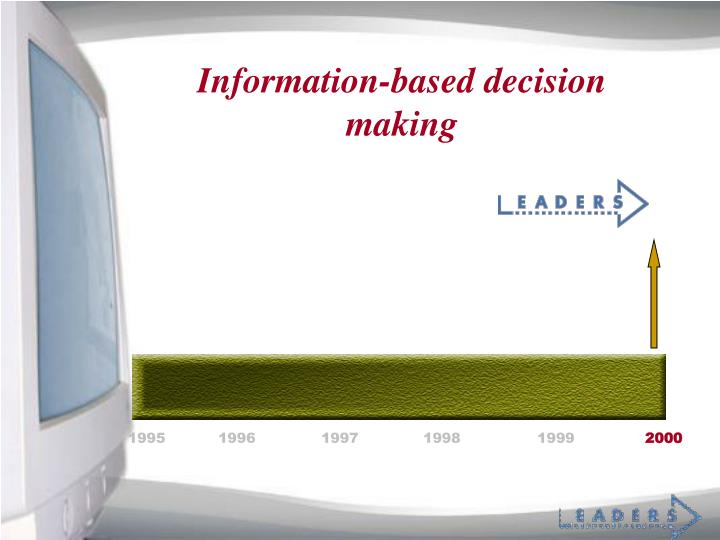 Information-based decision making