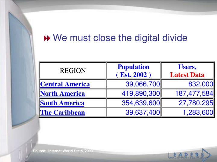 We must close the digital divide