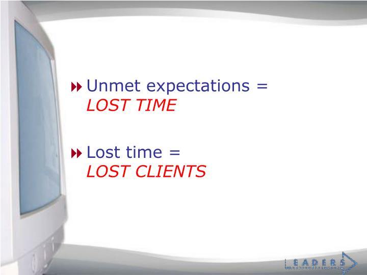 Unmet expectations =