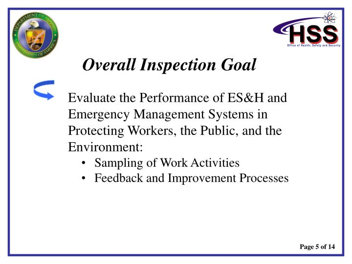 Overall Inspection Goal
