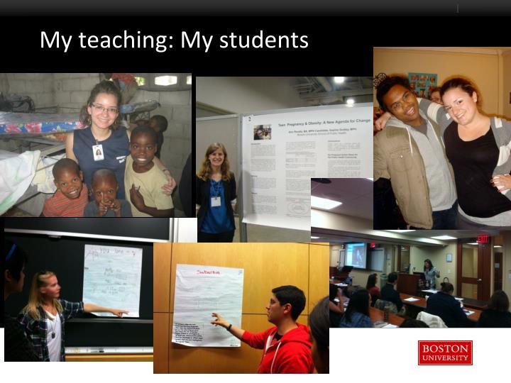 My teaching: My students
