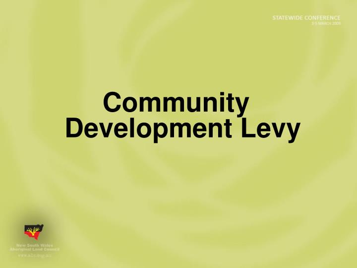 Community Development Levy