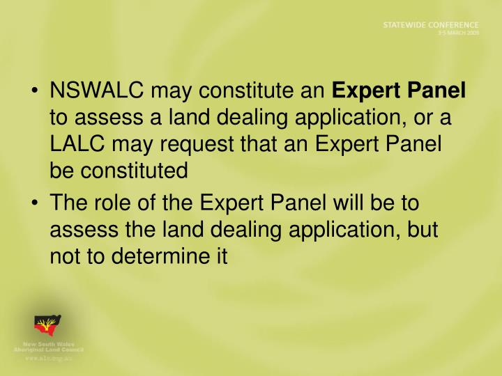 NSWALC may constitute an