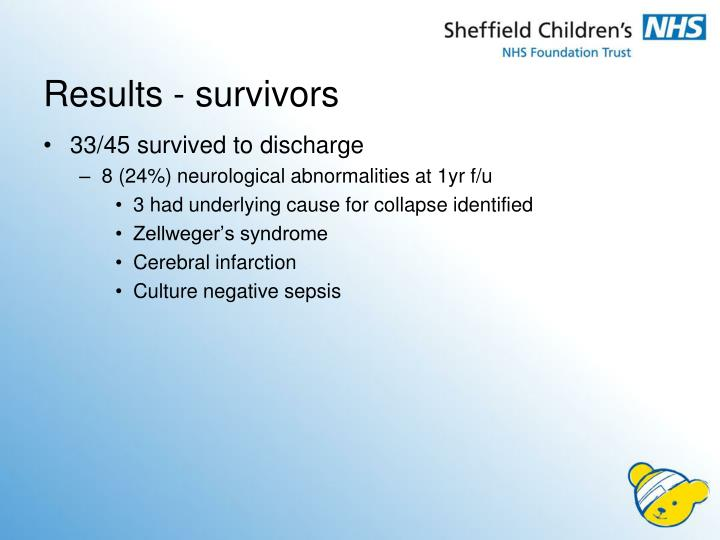 Results - survivors