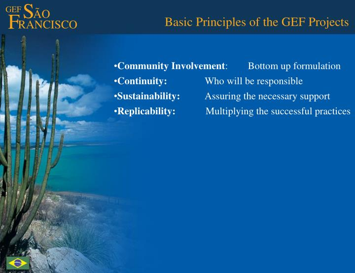 Basic Principles of the GEF Projects