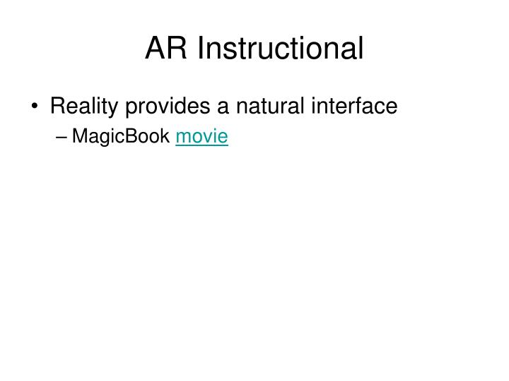 AR Instructional