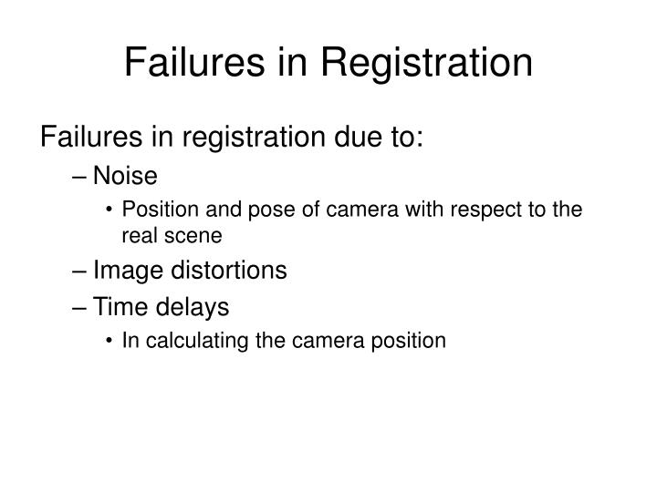 Failures in Registration