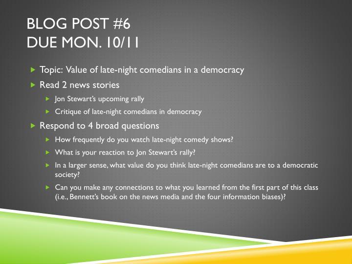 Blog Post #6