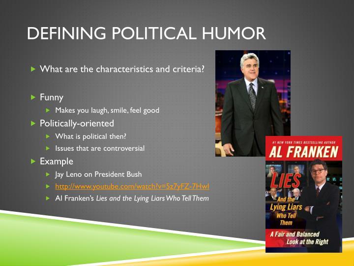 Defining Political Humor