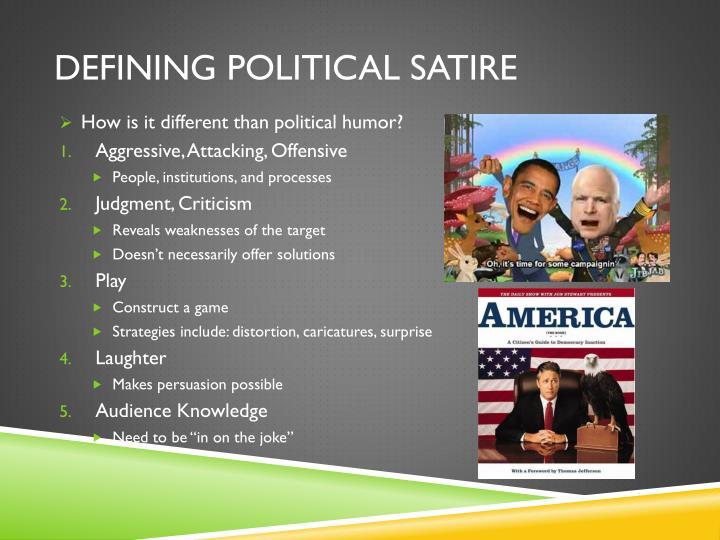 Defining Political Satire