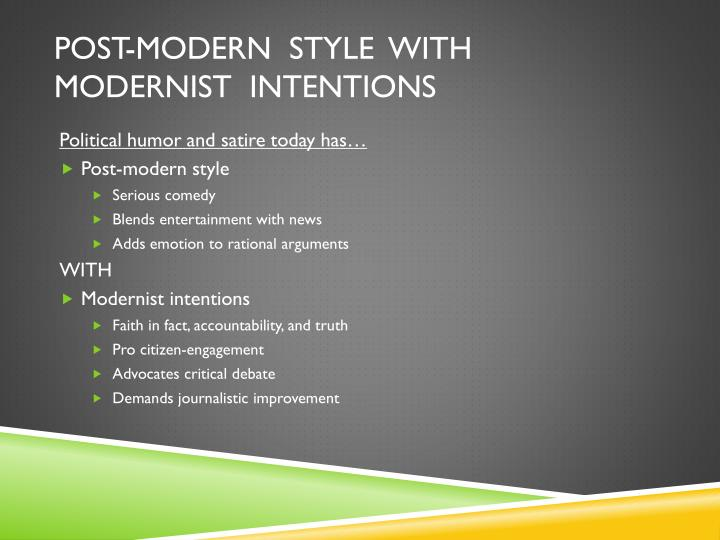 Post-Modern  Style  with