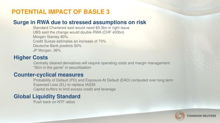 Potential impact of basle 3