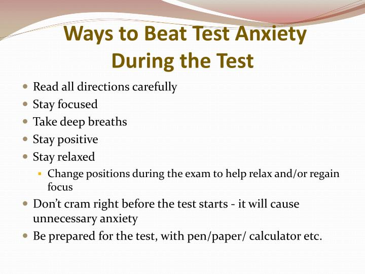 Ways to Beat Test Anxiety