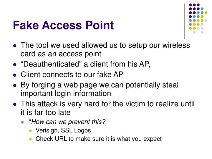Fake Access Point