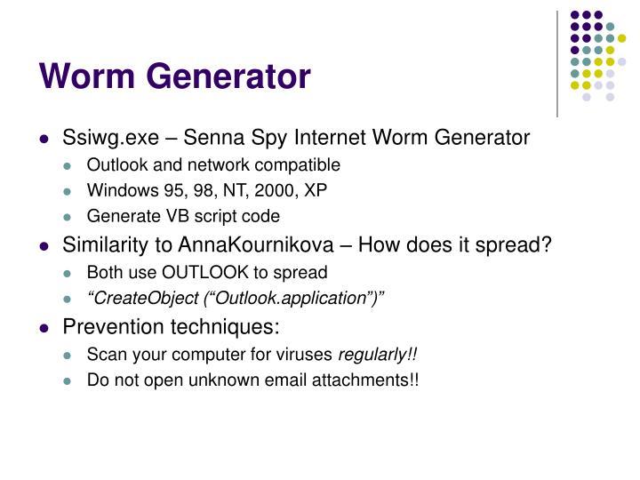 Worm Generator