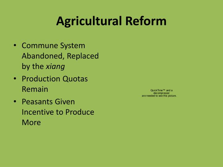 Agricultural Reform