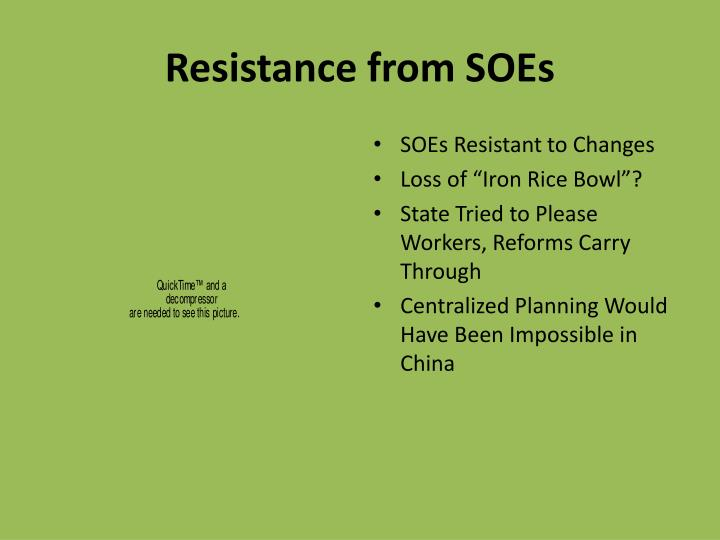 Resistance from SOEs