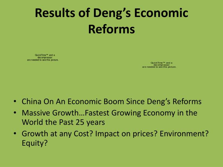 Results of Deng's Economic Reforms