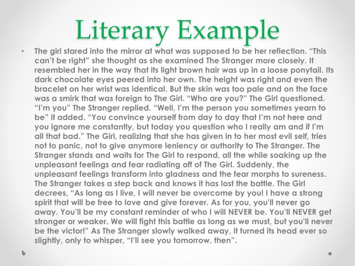 Literary Example