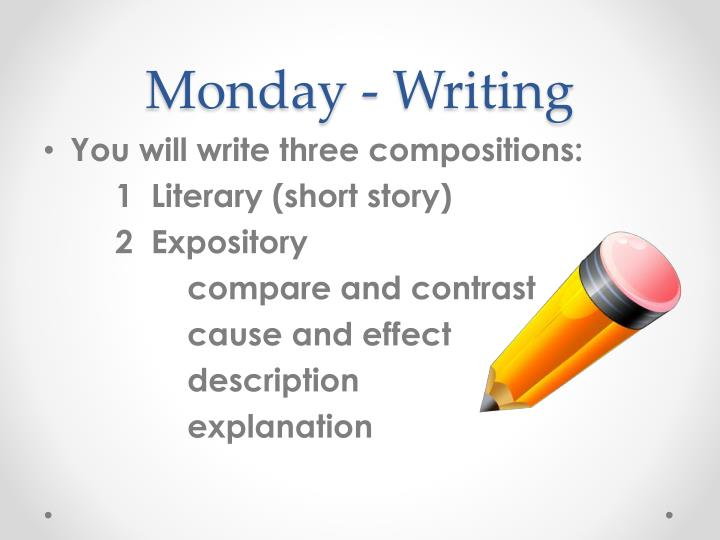 Monday - Writing