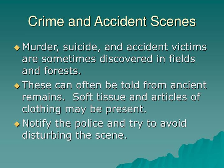 Crime and Accident Scenes