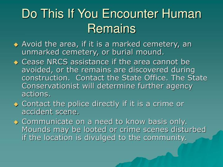 Do This If You Encounter Human Remains