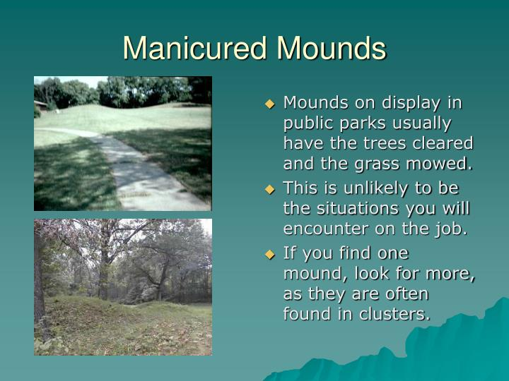 Manicured Mounds