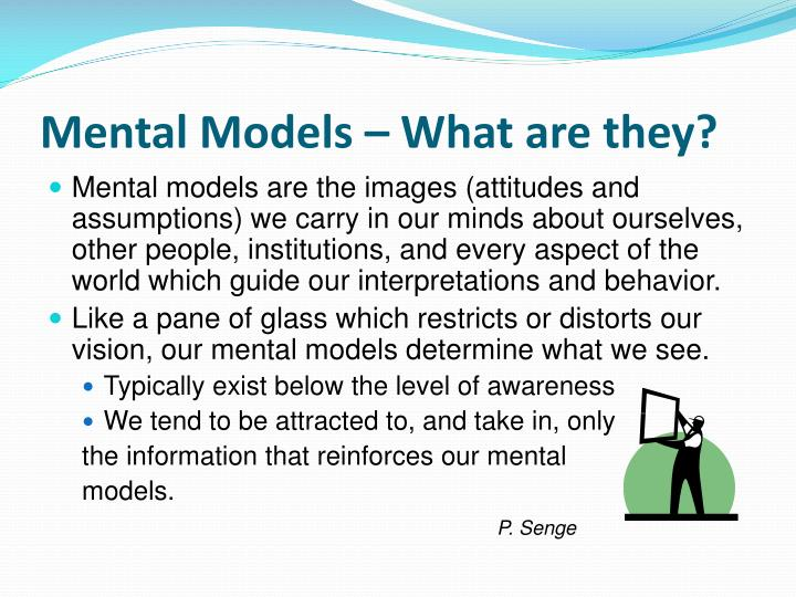 Mental models what are they